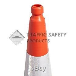 PACK OF 50 U. K ELITE Road Traffic Cones (Heavy Duty 2 Piece 750mm)