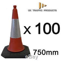 PALLET OF 100 U. K ELITE Traffic Cones (2 PIECE 750mm HEAVY DUTY)