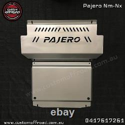 Pajero NM-NX 4mm 2 piece Stainless Bash Plate Heavy Duty by Custom Offroad