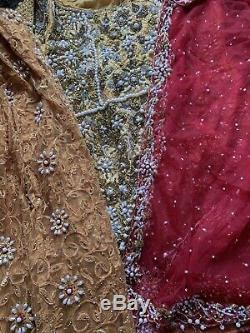 Pakistani Designer Detailed Heavy 3 Piece Suit