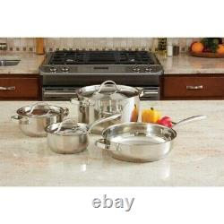 Pot & Pan set 7 piece Heavy Duty Stainless Steel Cookware Set Ever Clad cooking