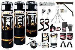 Punch Bag 3ft/4ft/5ft Filled Heavy duty Punching kick boxing bags set MMA fitnes
