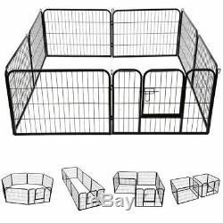 Puppy Playpen Dog Run Heavy Duty 8 Piece Enclosure Pen 80 x 100 cm (Height) XL