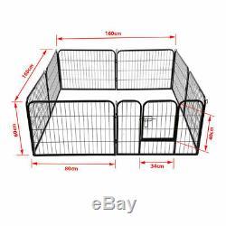 Puppy Playpen Heavy Duty Whelping 8 Piece Dog Run Enclosure Extra Large Pen ZC