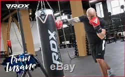 RDX 5FT Heavy Filled Duty Boxing 17 Piece Punch Bag Kick Martial Arts Set Black