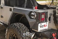 Rugged Ridge XHD Rear Armor Fender Set For 07-18 Jeep Wrangler JK 2 Door Black