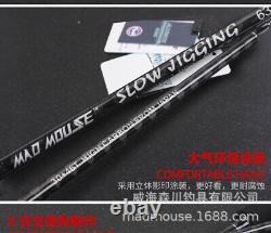 Saltwater Slow Jigging Rod 1.9M 2 Pieces Fuji Guides Reel Seat PE2-4 80-350g