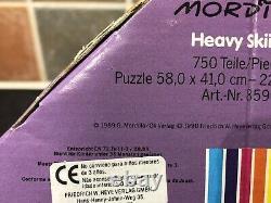 Sealed! Vintage 1989 Heye Heavy Skiing Mordillo 750 Piece Jigsaw & Poster Rare