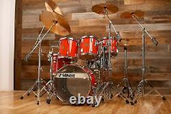 Sonor Horst Link Signature Heavy Beech Drum Kit, 5 Piece, Tornado Red Pre-loved