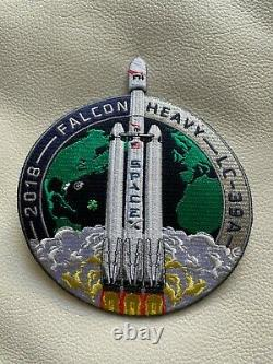 SpaceX FALCON HEAVY DEMO mission patch, lc-39A, 2018, RARE! AUTHENTIC