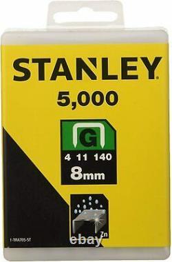 Stanley 8mm Staples G Type Heavy Duty Sharp Shooter Hammer Tacker Gun 5000 Piece