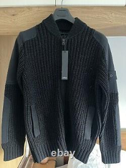 Stone Island 2018 Ghost Piece Heavy Knit Jacket Bnwt L 24 Ptp Cert Logo