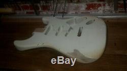 Stratocaster Body Olympic White Heavy Relic Nitro 2 piece Alder USA spec