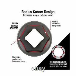 Sunex 2669 Drive Master Impact Socket Set 1/2 Inch 39 Piece 9mm 30mm Heavy Duty