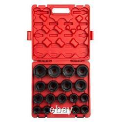 Sunex 4683, 3/4 Inch Drive Heavy Duty Impact Socket Set, 17-Piece, SAE