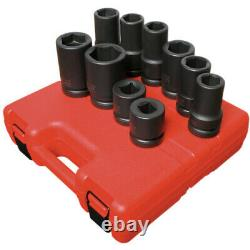 Sunex 5690A 10-piece 1 In. Drive Fractional Sae / Metric Heavy Duty Wheel Impact