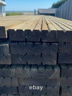 TREATED DECKING BOARDS 150mm x 38mm x 4800mm WOODEN TIMBER HEAVY DUTY PREMIUM