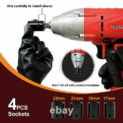 Toolman Corded Impact Wrench 6A 3200 RPM with 4pieces sockets for Heavy Duty