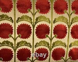 Vervain Vivienne Velour Pomegranite Velvet Designer Fabric 1.1 yard piece