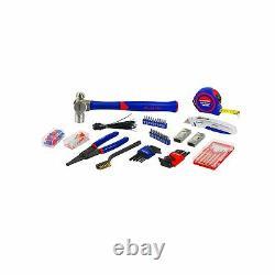 WORKPRO 408 Piece Mechanics Tool Set with 3 Drawer Heavy Duty Metal Box W009044A