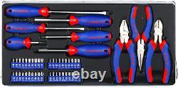 WORKPRO 408-Piece Mechanics Tool Set with 3-Drawer Heavy Duty Metal Box W009044A