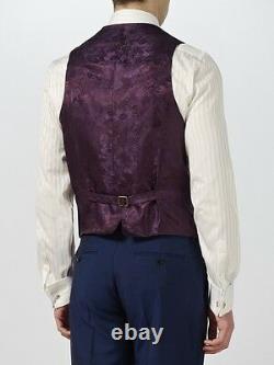 $150nwt Duchamp London Navy Pic Lapel Heavy Mohair Wool Costume 3 Pièces 42 Eu52 R