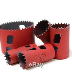 19 Piece Morse Avancée Bimétallique Scie Kit Set Heavy Duty Cobalt Bois Plastique