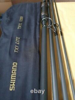 2x Shimano Tx1- Lite Carp 3.60m 3.00 Lb Essai 4 Piece Rod