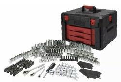 320 Mécanique Piece Repair Tool Set Avec Heavy Duty Boîte À Outils Douilles Cliquet
