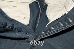 $398 Polo Ralph Lauren Rrl Hommes Patchwork Patch Heavy Jeans Pantalon Navy Blue 31/32