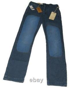 $398 Polo Ralph Lauren Rrl Hommes Patchwork Patch Heavy Jeans Pantalon Navy Blue 31/34