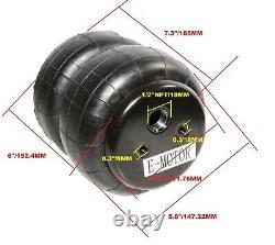 4 Pièces Combo Heavy Duty 2500lb 1/2npt Double Bellow Air Suspension Spring Bag