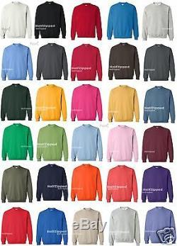 50 Gildan Lourd Mélange Crewneck Sweat-shirt S-5xl 18000 Gros Lot De 50