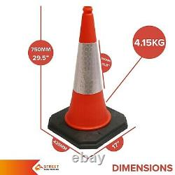 750mm Trafic Routier Cone 2-piece Design Sécurité Lourde Rue Cone Orange