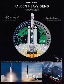 Authentique Spacex Falcon Heavy Demo # Employé 'd Patch Made Avec Filet Pilotés