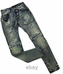 Bande Passante De Qualité Lourde Skinny Denim Jeans Amiri Hip-hop Style MX Ss21