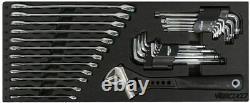 Boxo USA Heavy Duty 113 Piece Metric Tool Set Avec 2 Tiroirs Boîte À Outils De Transport À Main