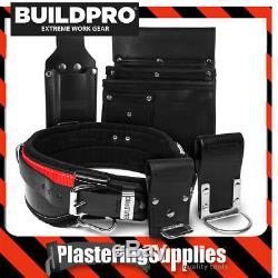 Buildpro Builders Charpentiers Plâtriers Set 5 Pièces En Cuir Robuste Brochage