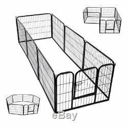 Chiot Playpen Dog Run Heavy Duty 8 Pièce Jointe Pen 80 X 100 CM (hauteur) XL