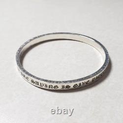 Chrome Coeurs Pièce 'a Bangle De Cul Bracelet / 925 Argent Sterling / Heavy