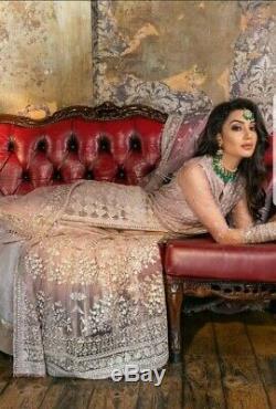 Concepteur Pakistanais Nazir Sobia Usure Originale Du Parti Brodé Lourd 3 Pièces