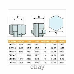 Coz Hydraulic Cap Plug Hose Tub Industrial Pipe Fitting Kit Heavy Duty 128 Pièce