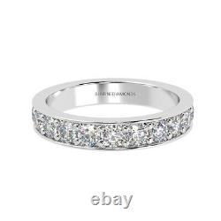 Dernière Pièce 1.50 Ct Round Diamond Full Eternity Ring, Hallmarked Heavy White Gold