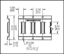 E Piste 5 Pi. Horizontale Remorque Tiedown Heavy Duty Calibre 12 10 Pièces