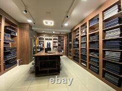 Ermenegildo Zegna Tissu Noir Cachemire-laine Pour Manteau De Luxe Doux 2,5 M 470 $