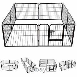 Extra Grand Poids Lourd 8 Pièces Puppy Dog Run Enclosure Stylo Playpen 80x100cm XL
