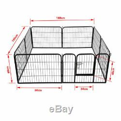 Extra Large Heavy Duty 8 Piece Puppy Dog Run Enclosure Welping Pen Playpen Uked