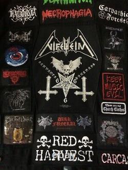 Full (heavy) Metal Jacket Thrash Death Black Denim Battle Cutoff Nifelheim Patch