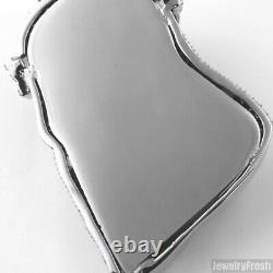 Grand Pendentif Lourd 3d Silver Jesus Piece En Acier Inoxydable