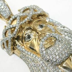 Grande Pièce 3d Gold Jesus Piece Triple Plaqué Heavy Top Quality